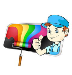painter for painting symbol vector image