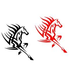 Tribal mustang stallion for mascot vector image vector image