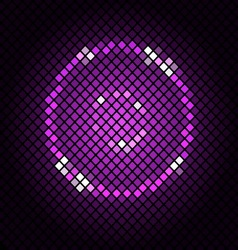 Abstract mosaic with violet background vector image vector image