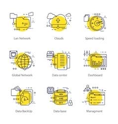 Datacenter line concept vector