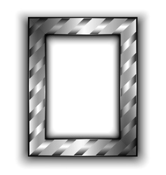 Frame for photo with diagonal lines Metal style vector image