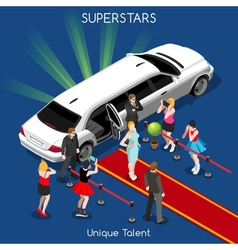 Hollywood 02 people isometric vector