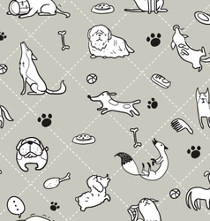 seamless Dogs pattern B vector image