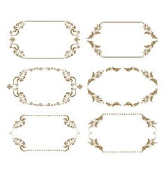 Set of ornate frames vector image vector image