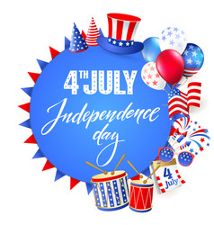 4th july independence day of usa vector