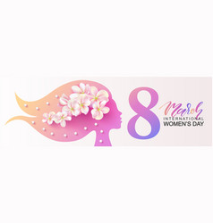 8 march happy women s day banner beautiful vector image
