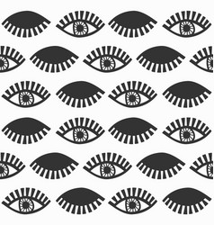 Abstract black feminine eyes with lashes pattern vector