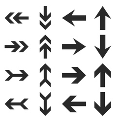 Arrow Directions Flat Icon Set vector