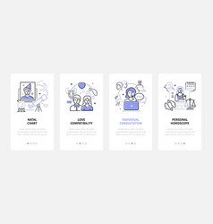 Astrology concept - modern line design style vector