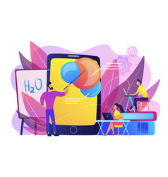 augmented reality in education concept vector image