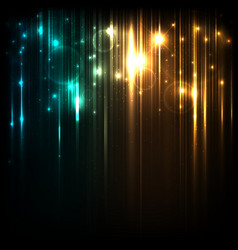 Background with magic lights vector
