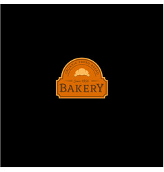 Bakery vintage logo and signboard vector