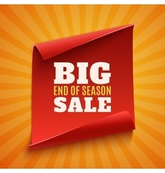 Big end of season sale poster vector image vector image
