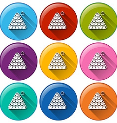 Billiard icons vector