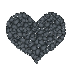 Black Bean Forming in A Heart Shape vector