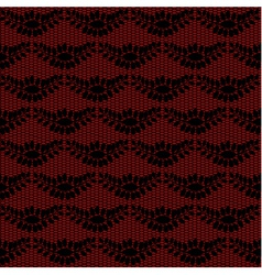 Black floral lacy background vector