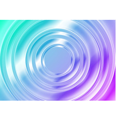 blue and pink glossy circles abstract tech vector image