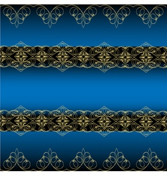Blue Ornamental Background vector image