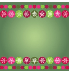 Card for Christmas design frame with snowflakes on vector image