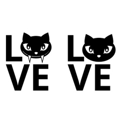Cat love vector