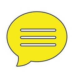 Chat bubble colorful icon design vector image