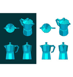 coffee maker color drawings vector image