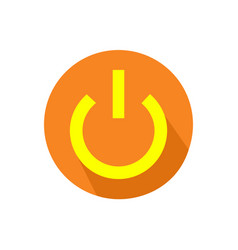 Computer power button icon on an isolated white vector