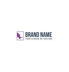 Creative logo design rhino vector