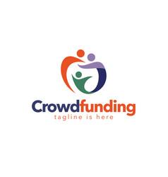 Crowdfunding organization logo vector