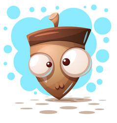 cute crazy nuts - cartoon vector image