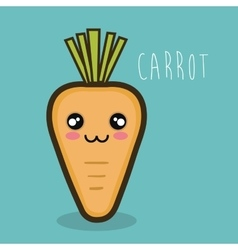 cute kawaii carrot vegetable design vector image