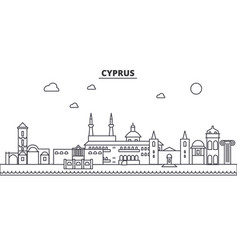 cyprus architecture line skyline vector image