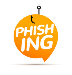 Data phishing hacking online scam bubble concept vector