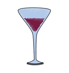 delicious wine cup vector image
