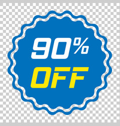 discount sticker icon in flat style sale tag sign vector image