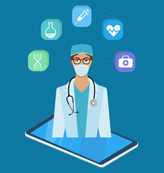 doctor character man and women design with medical vector image