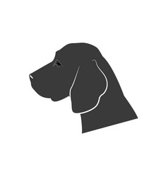 Dog s silhouette icon vector