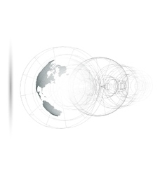 Dotted world globe isolated abstract construction vector image