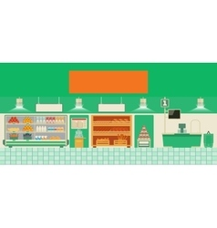 Eco food store vector image