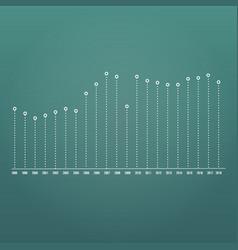 editable business diagram graph chart vector image