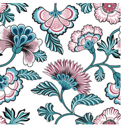 floral seamless pattern ornamental backdrop vector image