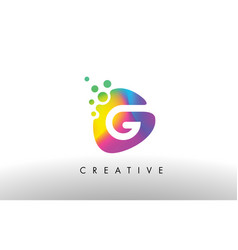 G colorful logo design shape purple abstract vector