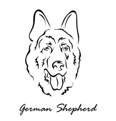 German Shepherd vector