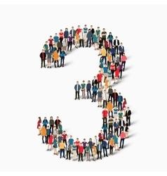 Group people shape figure 3 vector