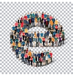 Group people shape letter E Transparency vector