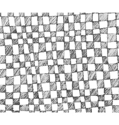 Hand drawn checkered pattern vector
