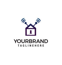 home security logo design concept template vector image