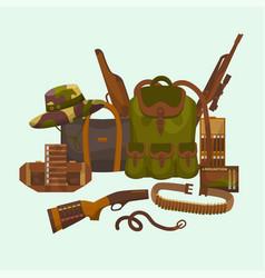 Hunter equipment huntsman vector