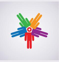 icon leadership concept vector image