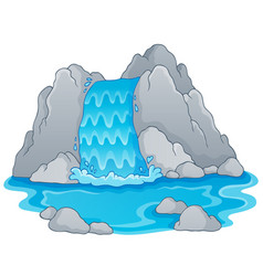 Image with waterfall theme 1 vector